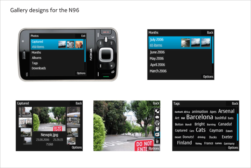 Gallery designs for N96