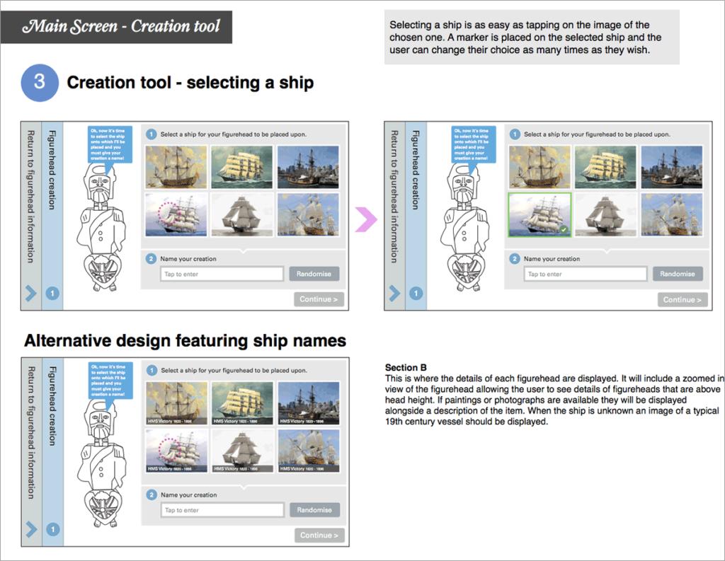 Selecting a ship