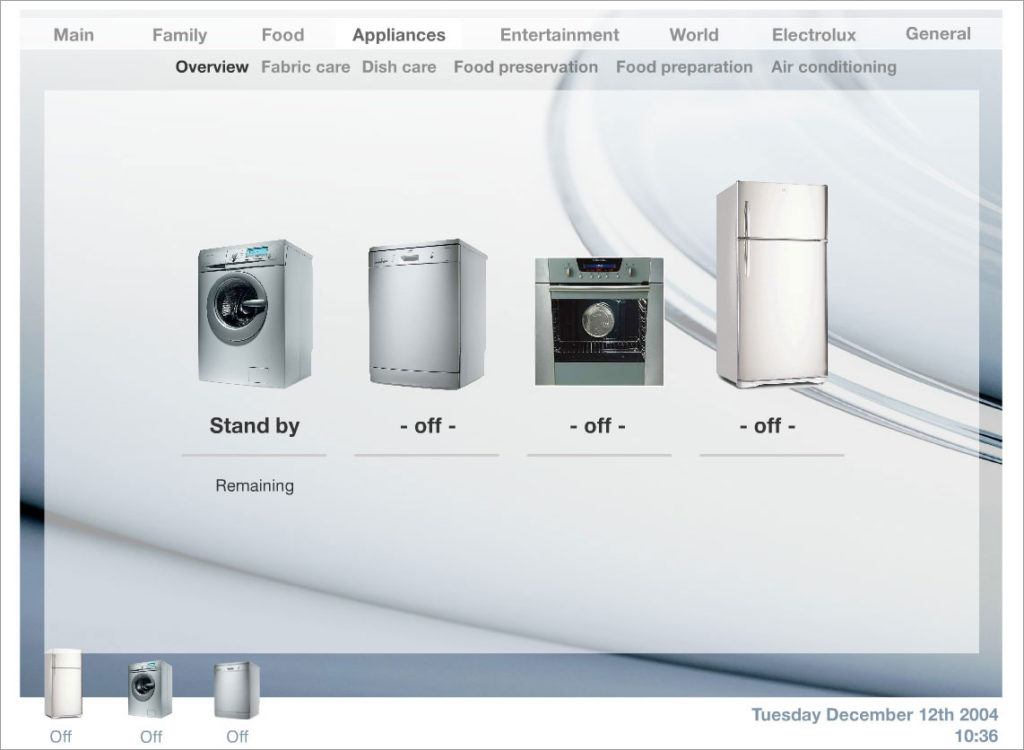 Home automation project - products page