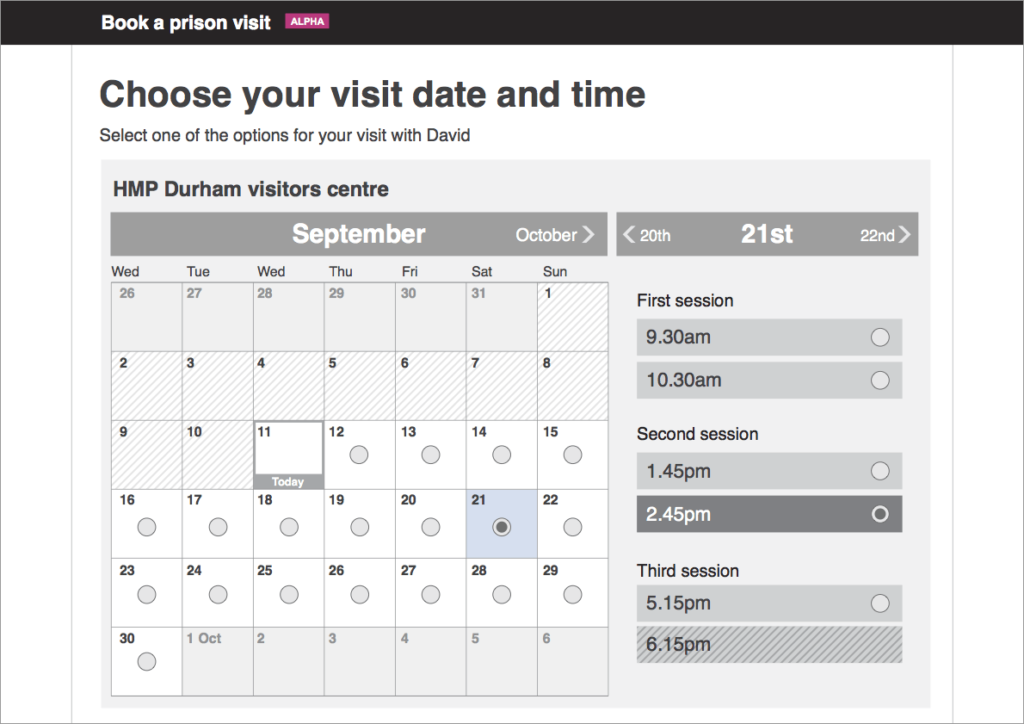 Alternative date picker design - alpha phase
