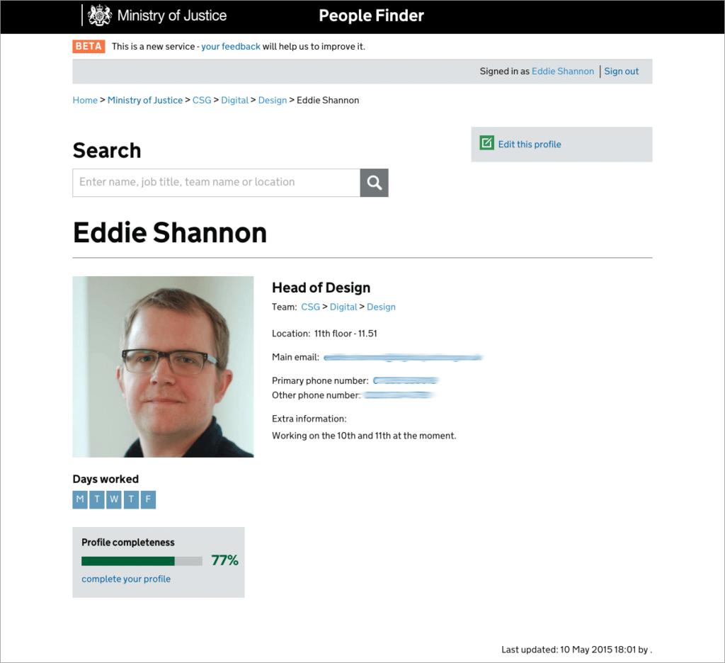 People Finder Service Shannonigans Design
