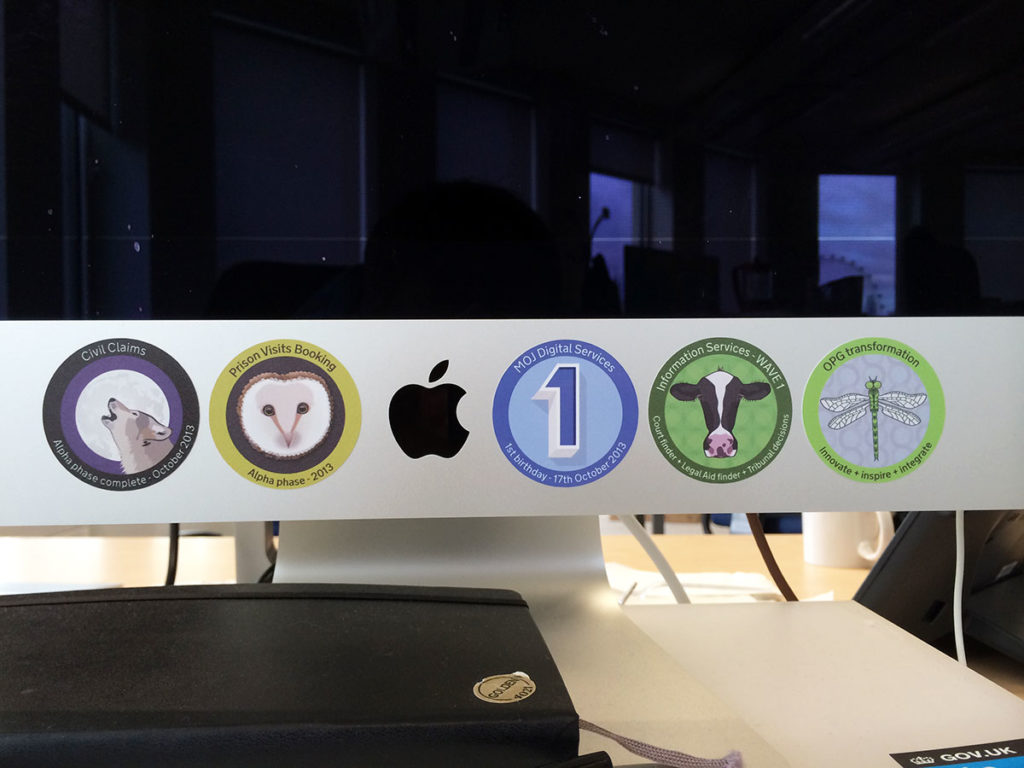 Stickers on iMac